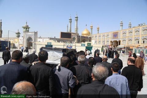 مراسم تشییع مرحوم شیخ محمود واعظی اردبیلی در قم