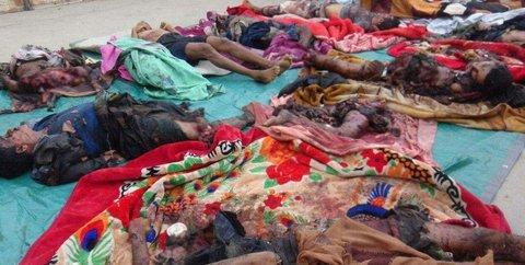 قربانیان بمباران یمن