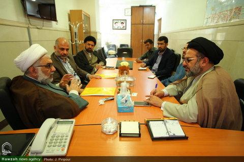 تصاویر/ دیدار مسئولین اتحادیه علمای مقاومت با رئیس مرکز بین الملل حوزه