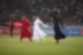 فعاليات افتتاح بطولة غرب آسيا خروج عن الشرع