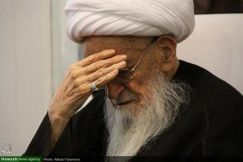 تصاویر/ مراسم عزاداری شهادت امام جواد(ع) در بیوت مراجع و علما