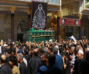 مراسم عزاداری شهادت امام جواد(ع) در حرم کاظمین(ع) برگزار شد+ تصاویر