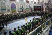 بالصور/ خَدَمةُ العتبتين المقدّستين يعزّون الإمام الحسين بذكرى شهادة حفيده الجواد (سلام الله عليهما)