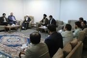دیدار مدیران و سردبیران رسانه های ایران با آیت الله عیسی قاسم