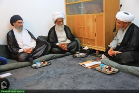 رهبر شیعیان پاکستان با آیت الله العظمی بشیر نجفی دیدار کرد+تصاویر