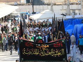 مراسم تشییع نمادین امام جواد (ع) با حضور خیل زائران برگزار شد+ تصاویر