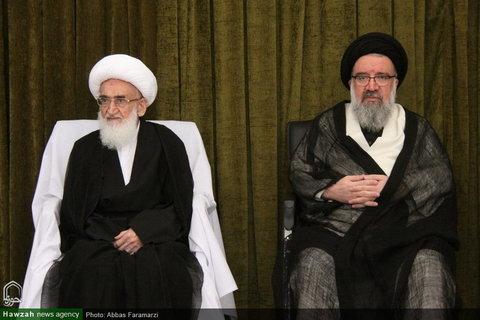 إقامة مجالس عزاء في ذكرى استشهاد الإمام الجواد (ع) في بيوت مراجع الدين والعلماء بقم المقدسة