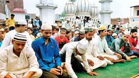 مسلمانان هندی در پشت بام های مساجد نماز جماعت اقامه کردند