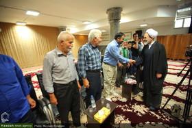 تصاویر/ دیدار جمعی از شعرای میبد یزد با آیت الله اعرافی
