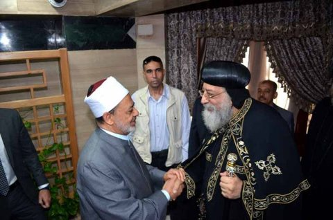 دیدار شیخ الازهر و پاپ تواضروس