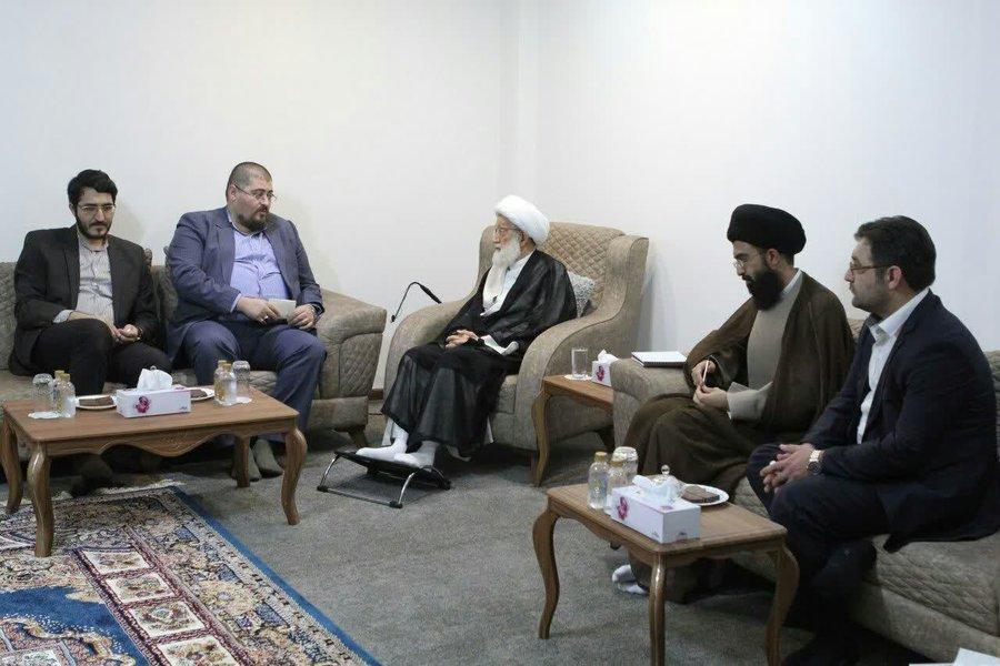 الشيخ عيسى قاسم يستقبل مدراء وسائل الإعلام الإيرانية