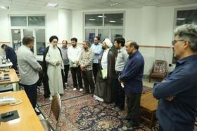 بازدید مدیر جامعه الزهرا از بخش برق و تاسیسات این مرکز