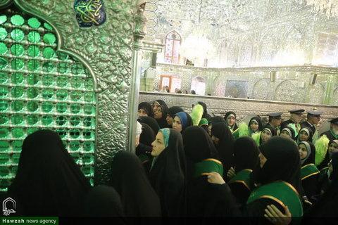 تصاویر/ غبارروبی مضجع شریف شاهچراغ(ع) با حضور خبرنگاران