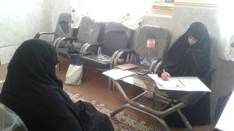مصاحبه داوطلبان طرح طلبه معلم در حاجی آباد استان هرمزگان