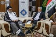 الأمين العام للعتبة العلوية المقدسة يستقبل مسؤول مجلس علماء الطائفة الشيعية في باكستان+الصور