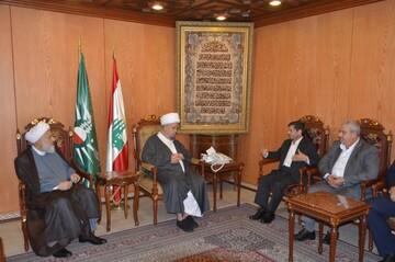 رایزین فرهنگی ایران با آیت الله قبلان دیدار و بر لزوم تحکیم روابط ایران و لبنان تاکید کرد