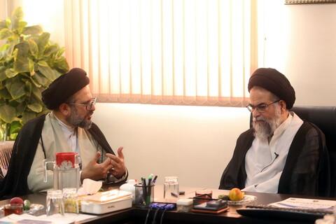 زيارة مدير ومسؤولي جامعة الزهراء (ع) لمركز إعلام الحوزة العلمية بقم القمدسة