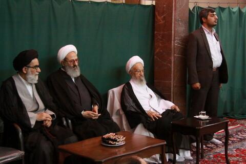 بالصور/ إقامة مجالس العزاء في ذكرى استشهاد الإمام محمد الباقر (ع) في بيوت مراجع الدين والعلماء بقم المقدسة