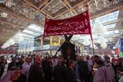 حرم حضرت عباس (ع) عزادار شهادت امام باقر (ع) شد + تصاویر