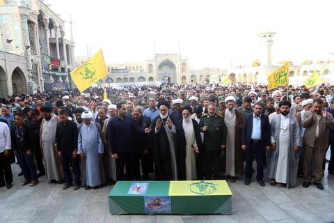 تصاویر/ تشییع پیکر شهید مدافع حرم ابراهیم توسلی در قم