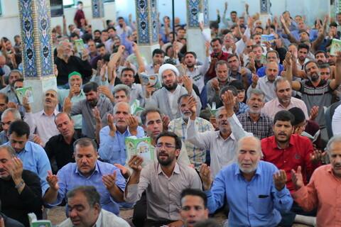 تصاویر/ قرائت دعای عرفه در امامزادگان شهدای باقریه بیرجند