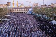 کربلا میں نماز عید سعید قربان کی ادائیگی+تصاویر