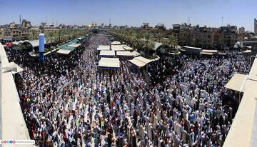 مراسم روز عرفه در کربلای امام حسین(ع) برگزار شد+ تصاویر