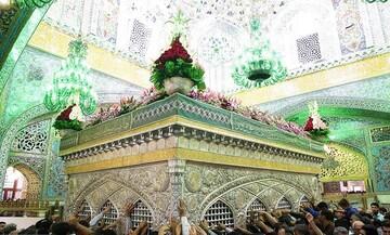 First-time pilgrims from Iraqi seminary school visit Imam Reza (as) holy shrine
