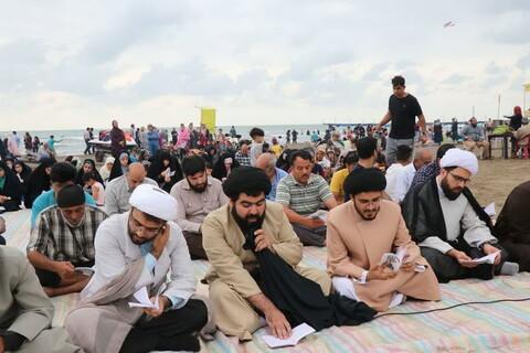 تصاویر/ دعای عرفه کنار ساحل بابلسر