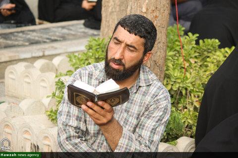 راسم پر فیض قرائت دعای عرفه در گلستان شهدای اصفهان