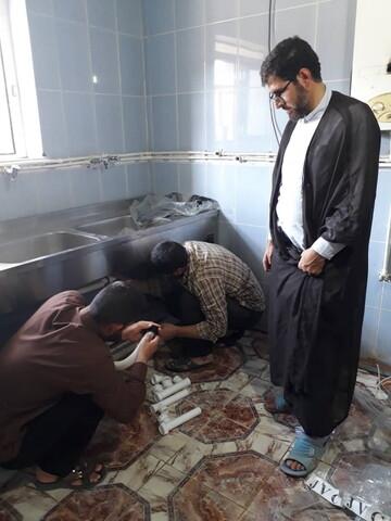 تصاویر/ بازسازی و تجهیز مدرسه علمیه امام رضا(ع) پلدختر
