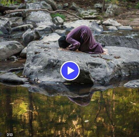 تصاویر مکان های غیرمنتظره نماز خواندن مسلمانان در اینستاگرام
