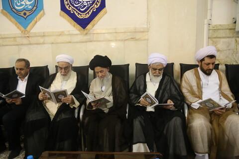 إقامة مجلس تأبيني للفقيد آية الله آصف محسني من قبل قائد الثورة المعظم بقم
