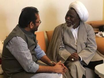 وزير شؤون الاقليات الهندي يزور الشيخ الزكزاكي + صور
