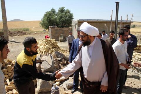 تصاویر/ حضور امام جمعه همدان در جمع گروه های جهادی مستقر در روستاهای همدان