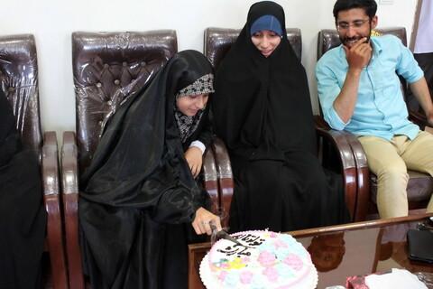 تصاویر/ جشن تولد فرزند شهید مصطفی قاسمی با حضور مدیر حوزه علمیه همدان