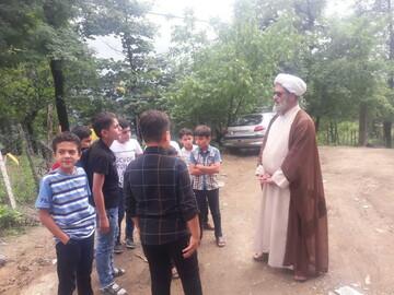 تصاویر شما/ فعالیت های فرهنگی - تبلیغی یک روحانی در روستای شادخال گیلان