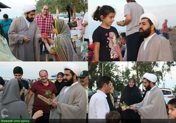 تصاویر شما/ اقدام جالب امام جمعه اسالم در ترویج حجاب و عفاف در ساحل گیسوم