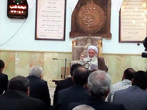 آیت الله مصطفی علما، جلسه درس اخلاق در محل استانداری کرمانشاه