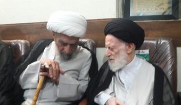 دیدار آیت الله اشرفی شاهرودی با آیت الله العظمی شبیری زنجانی در مشهد