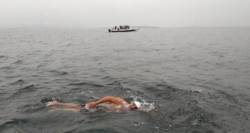 نخستین مسلمان موفق شد کانال سخت شمالی را شنا کند