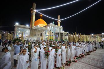 تصاویر جشن غدیر در حرم امامین عسکریین(ع)