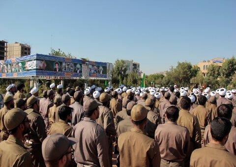 برگزاری مراسم یاد بود چهلمین روز خاکسپاری شهدای گمنام  در  تیپ امام صادق (ع)