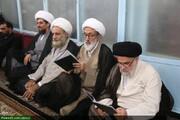 بالصور/ إقامة مجلس تأبيني لمرور أربعين يوم من وفاة الفقيد آية الله الحسيني الشاهرودي بقم المقدسة