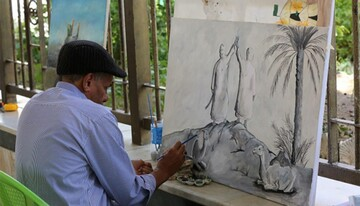 معرض دولي للفن التشكيلي تحتضنه منطقة ما بين الحرمين الشريفين في كربلاء