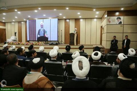 تصاویر/ افتتاح مدینةالعلم کاظمیه یزد توسط آیتالله العظمی سبحانی(2)