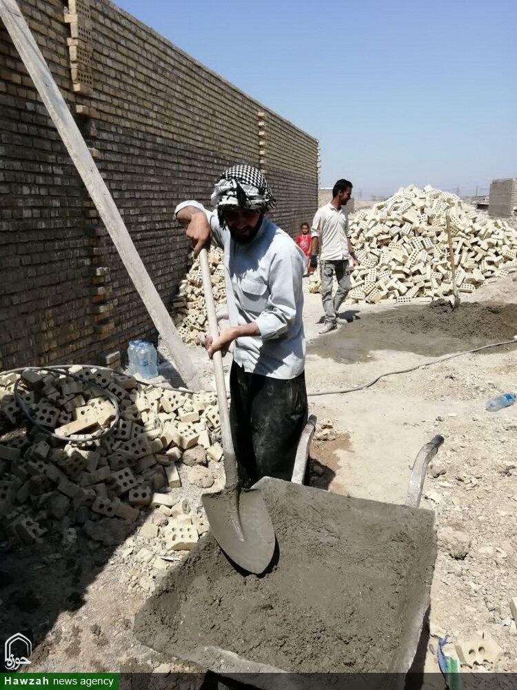 تصاویر/ اردوی جهادی طلاب مدرسه علمیه بقیةالله تهران در مناطق سیل زده اهواز