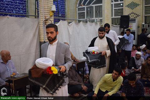 آیین عمامه گذاری جمعی از طلاب اهوازی