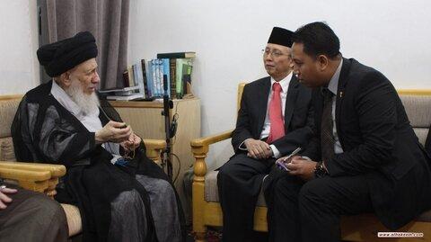 آية الله الحكيم يستقبل السفير الإندونيسي في العراق