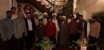 رئیس سازمان تبلیغات به میان طلاب مدرسه ابوذر تهران رفت+ عکس